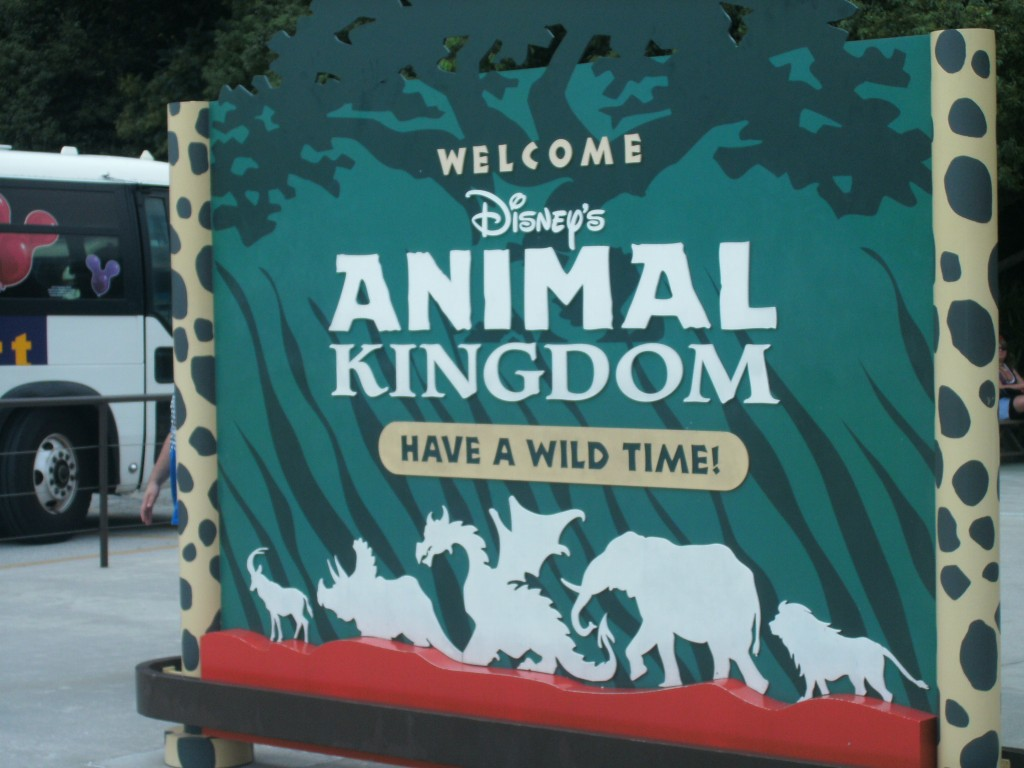 welcome sign at Disney's Animal Kingdom