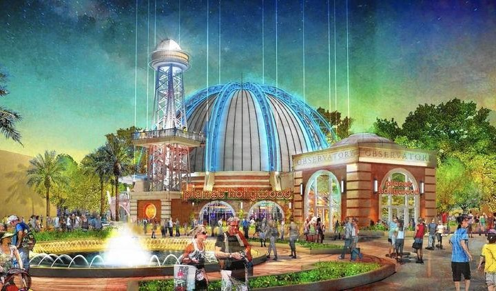 Planet Hollywood Concept Art at Disney Springs
