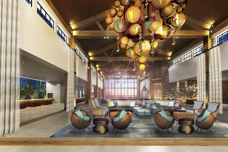 Loews Sapphire Falls Resort lobby rendering