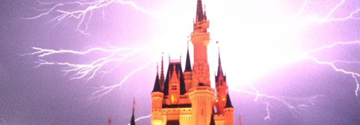 Incredible Lightning Strikes Captured Above Cinderella Castle