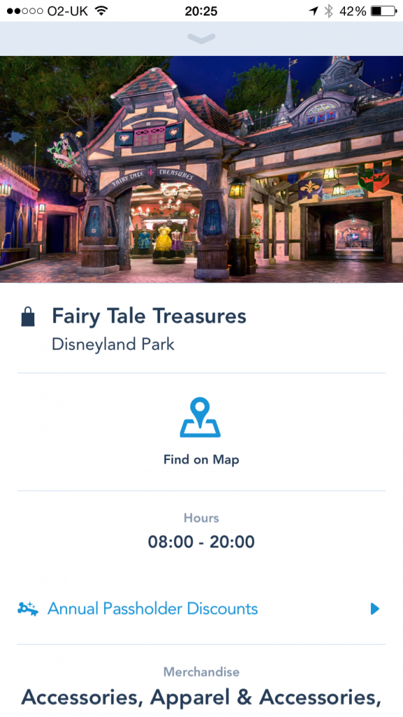 Disneyland App Fairy Tale Treasures Shop