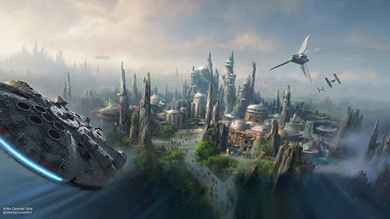 Artist impression of the Millennium Falcon attraction