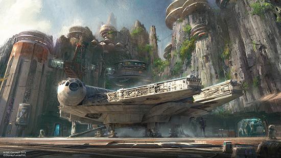 Star Wars Land Millennium Falcon