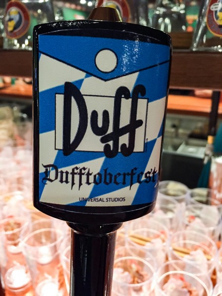 Dufftoberfest duff beer glass at Universal Orlando