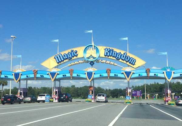 Magic Kingdom entrance parking lot