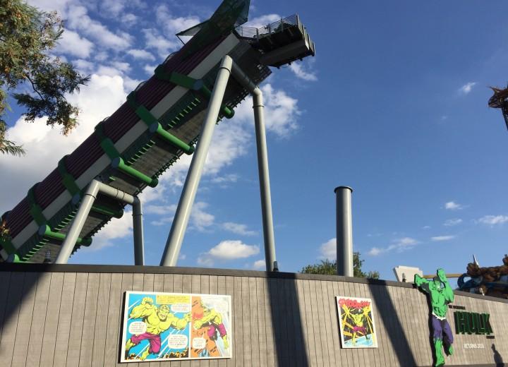 Incredible Hulk Coaster Almost All Torn Down for Refurbishment