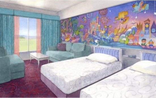 Tokyo Disney Resort Celebration Hotel Rooms Artwork