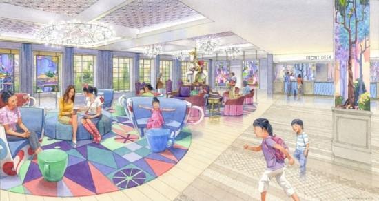 Tokyo Disneyland Wish Hotel Lobby Artwork