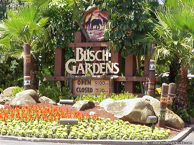 Busch Gardens entry sign