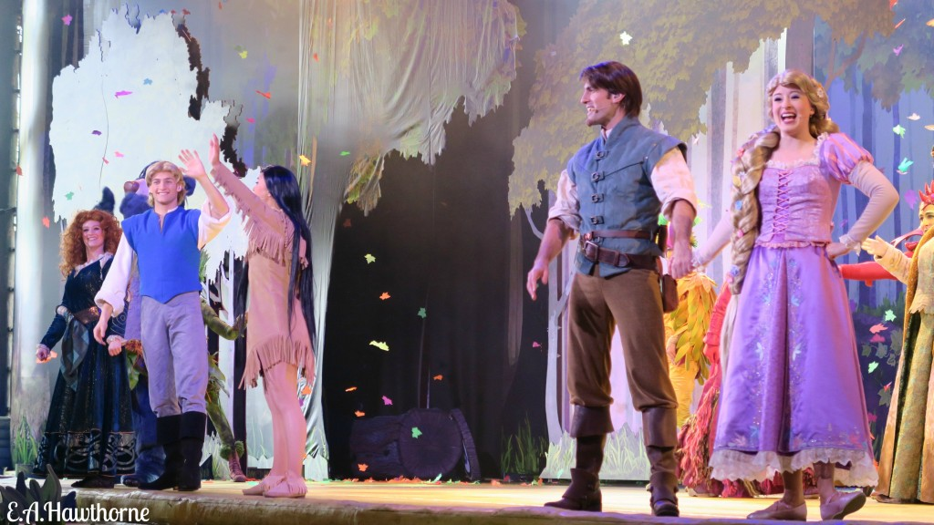 Forest of Enchantment cast standing at the end of the show