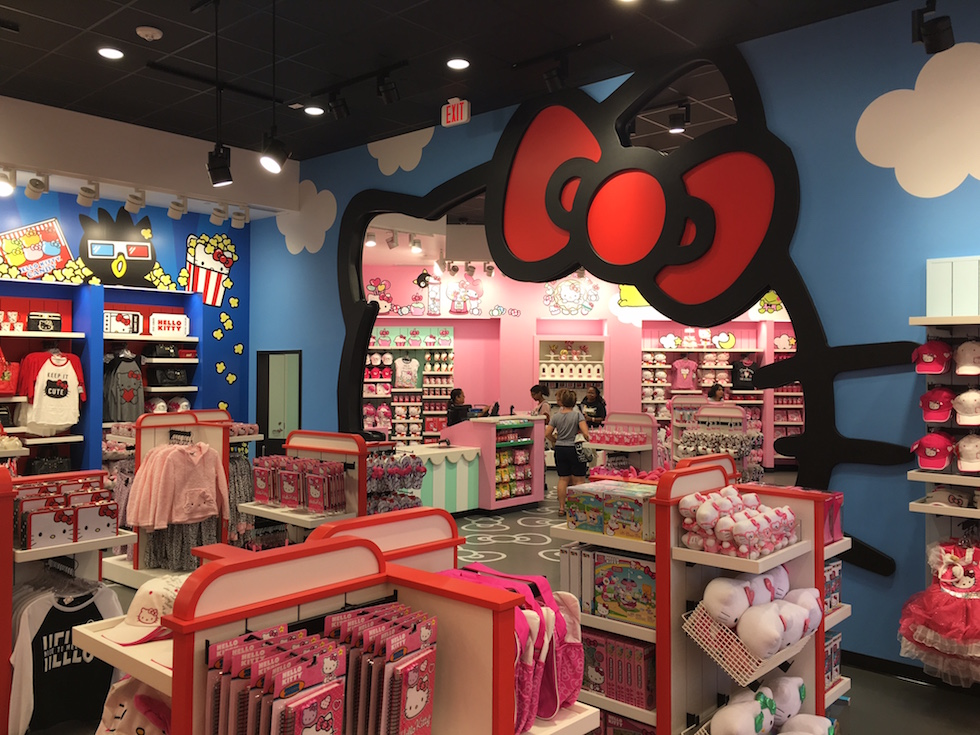 Hello Kitty store interior at Universal Studios Orlando