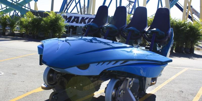 Mako ride car at SeaWorld Orlando