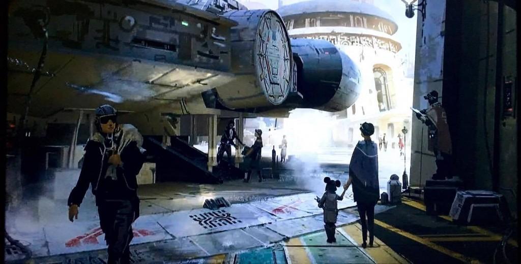 Star Wars Land Millennium Falcon exterior
