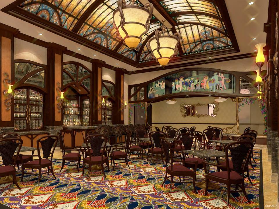 The Shanghai Disneyland hotel bar concept art