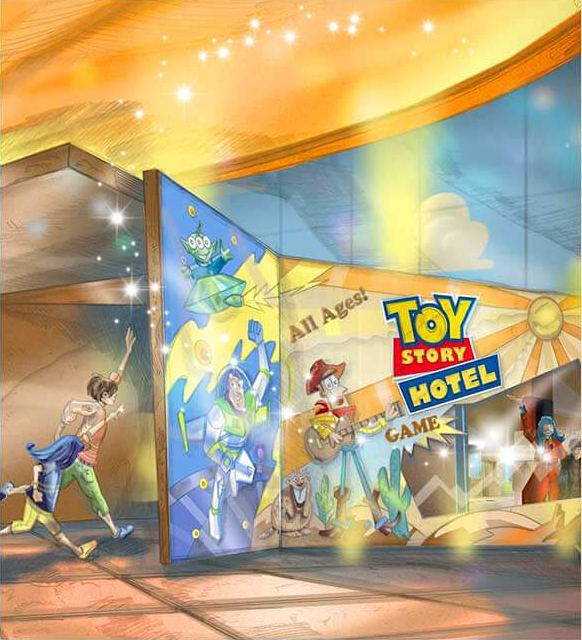 Toy Story Hotel entrance concept art
