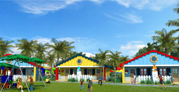 Legoland Florida Beach Retreat hotel accommodation concept art