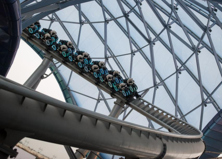 Watch a Video Ride Through of Tron Coaster at Shanghai Disneyland