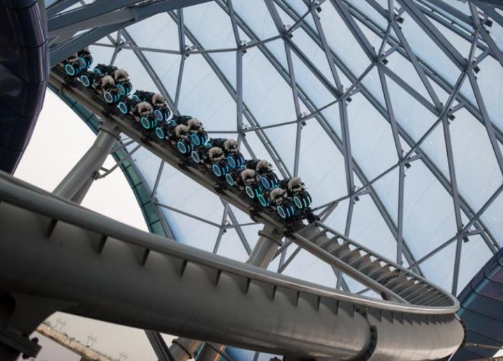Watch a Video Ride Through of Tron Coaster at Shanghai Disneyland