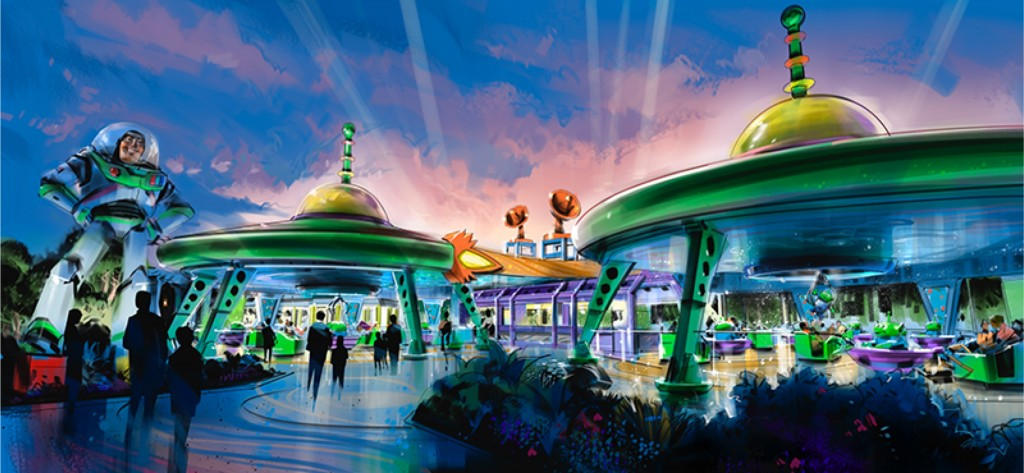 Alien Swirling Saucers concept art