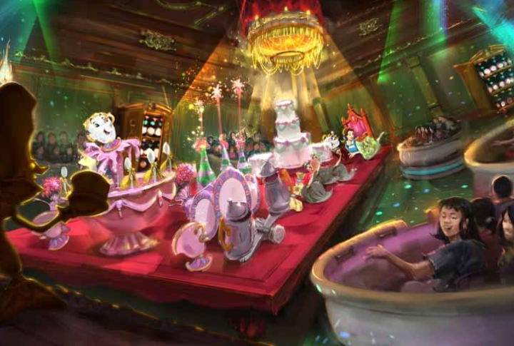 Beauty and the Beast area & Attraction Coming to Tokyo Disneyland
