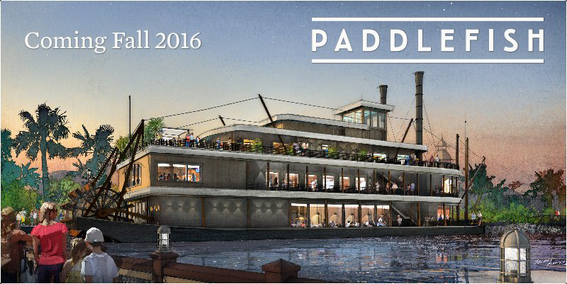 Paddlefish concept art for Disney Springs