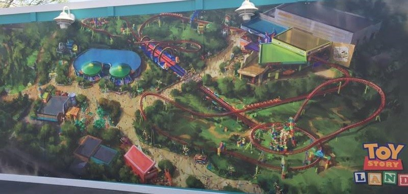 Toy Story Land concept art at Disney's Hollywood Studios