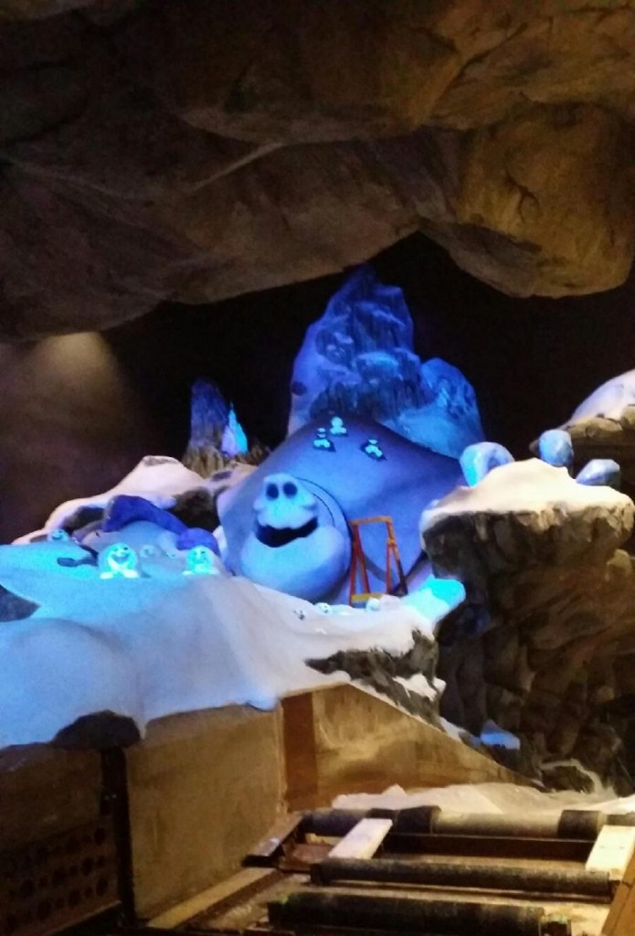 Leaked Frozen Ever After Photo Marshmallow and some projected Snowgies