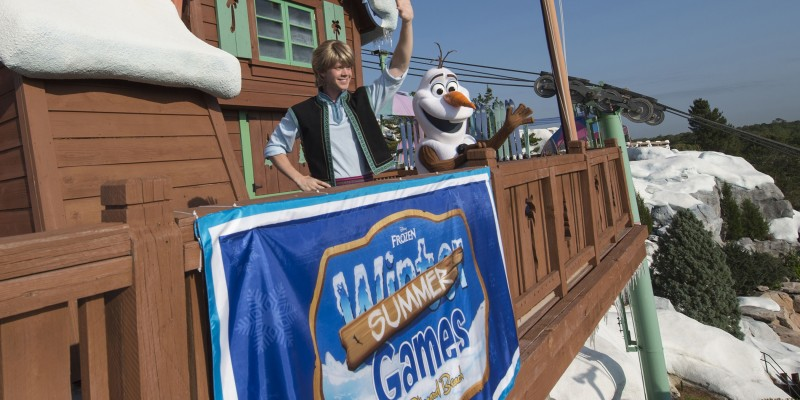 Frozen Summer Games at Disney's Blizzard Beach 2016 with Olaf and Kristoff