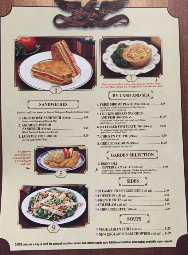 Columbia Harbor House Adds Calories To Menu At Magic Kingdom