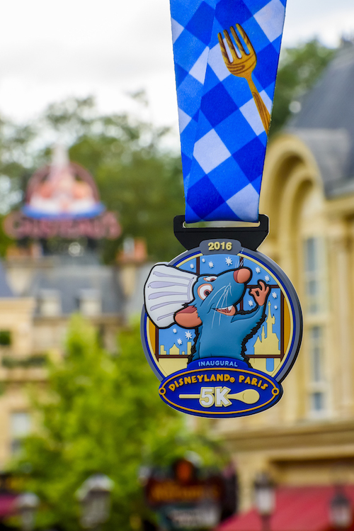 Disneyland Paris 5K Chef Remy 2016 medal