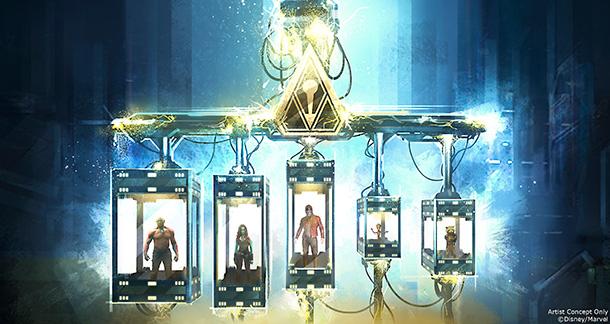 Guardians of the Galaxy Mission BREAKOUT prison scene concept art