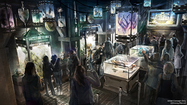 Guardians of the Galaxy Mission Breakout interior concept art