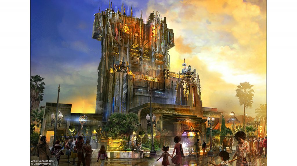 Guardians of the Galaxy Mission BREAKOUT Tower of Tower exterior concept art