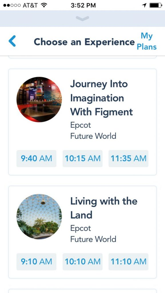 Living with the Land Tier 2 FastPass screenshot