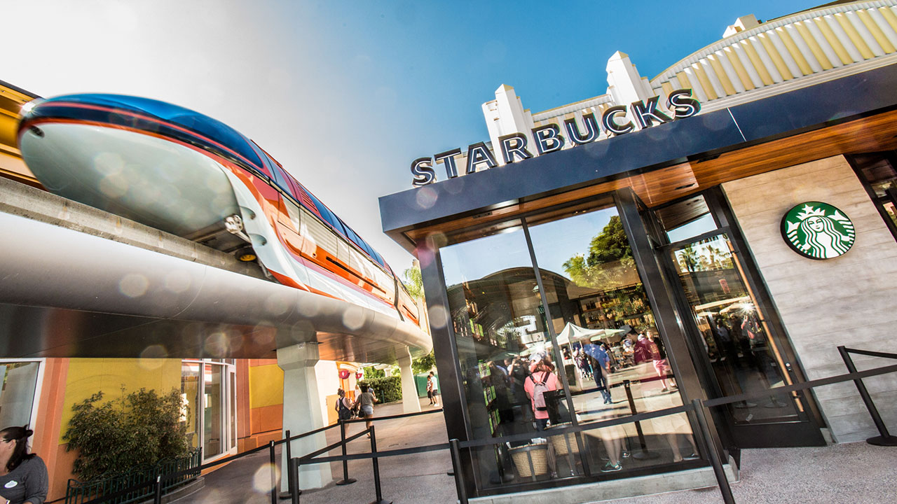 Starbucks at Downtown Disney at the Disneyland Resort