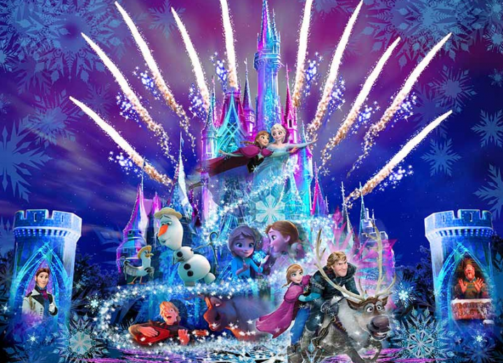 Frozen Nighttime Castle Projection Show Coming to Tokyo Disneyland