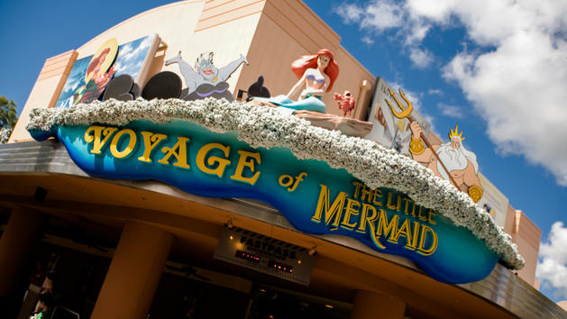 Voyage of the Little Mermaid attraction sign at Disney's Hollywood Studios