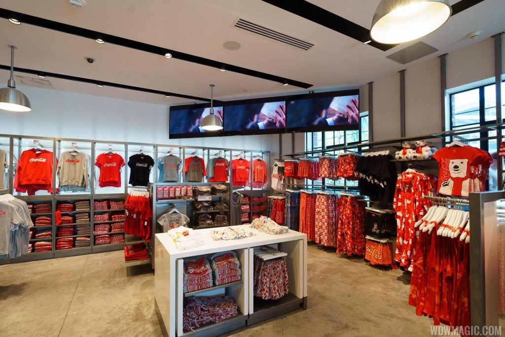 ground floor merchandise at the world of coca cola store in Disney Springs