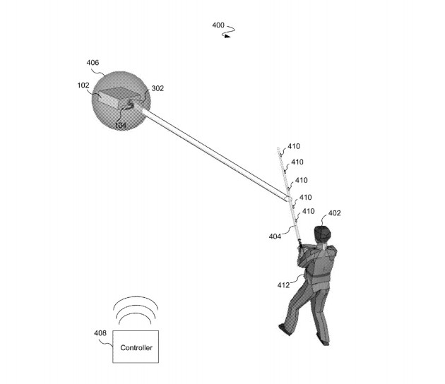 Disney patent image for lightsaber that can deflect lasers from a drone