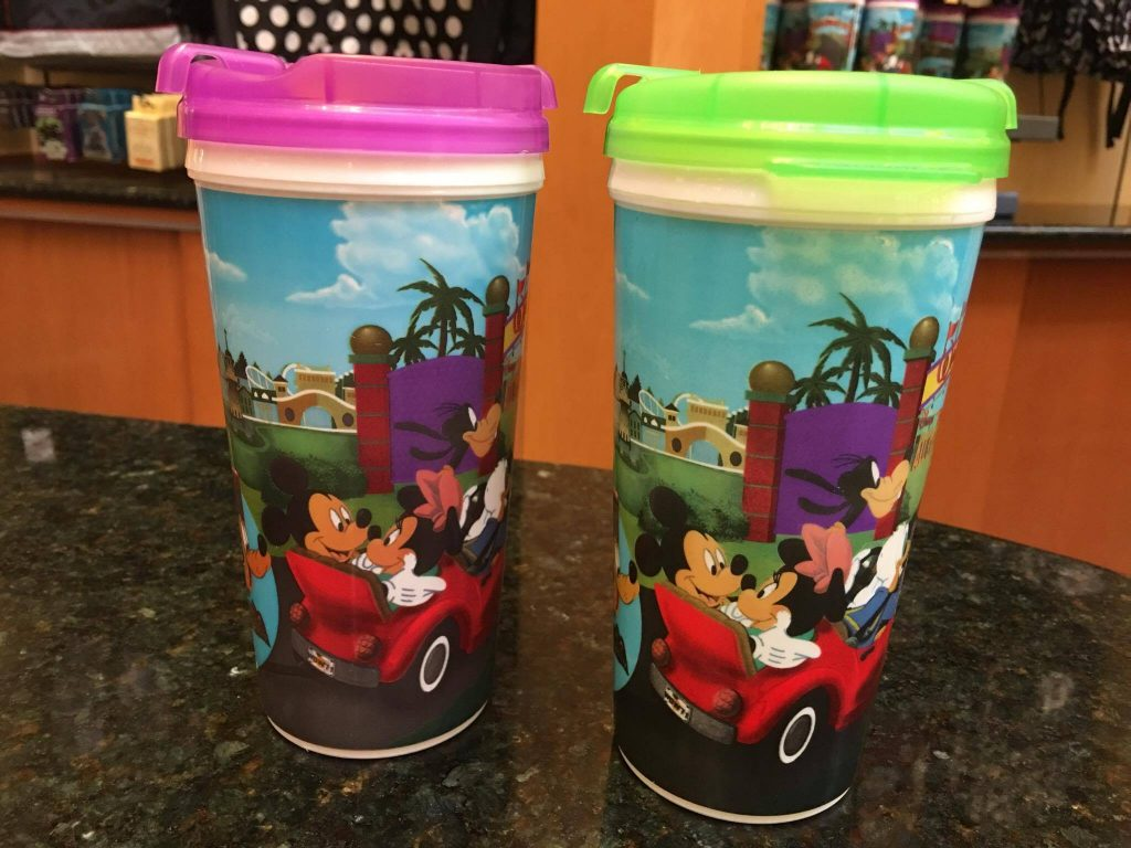 Walt Disney World Resort refillable mugs without handles