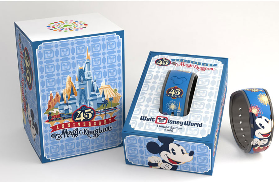 Limited edition MagicBand for Magic Kingdoms 45th Anniversary
