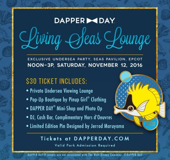 Living Seas Lounge Party on Dapper Day at Epcot this November