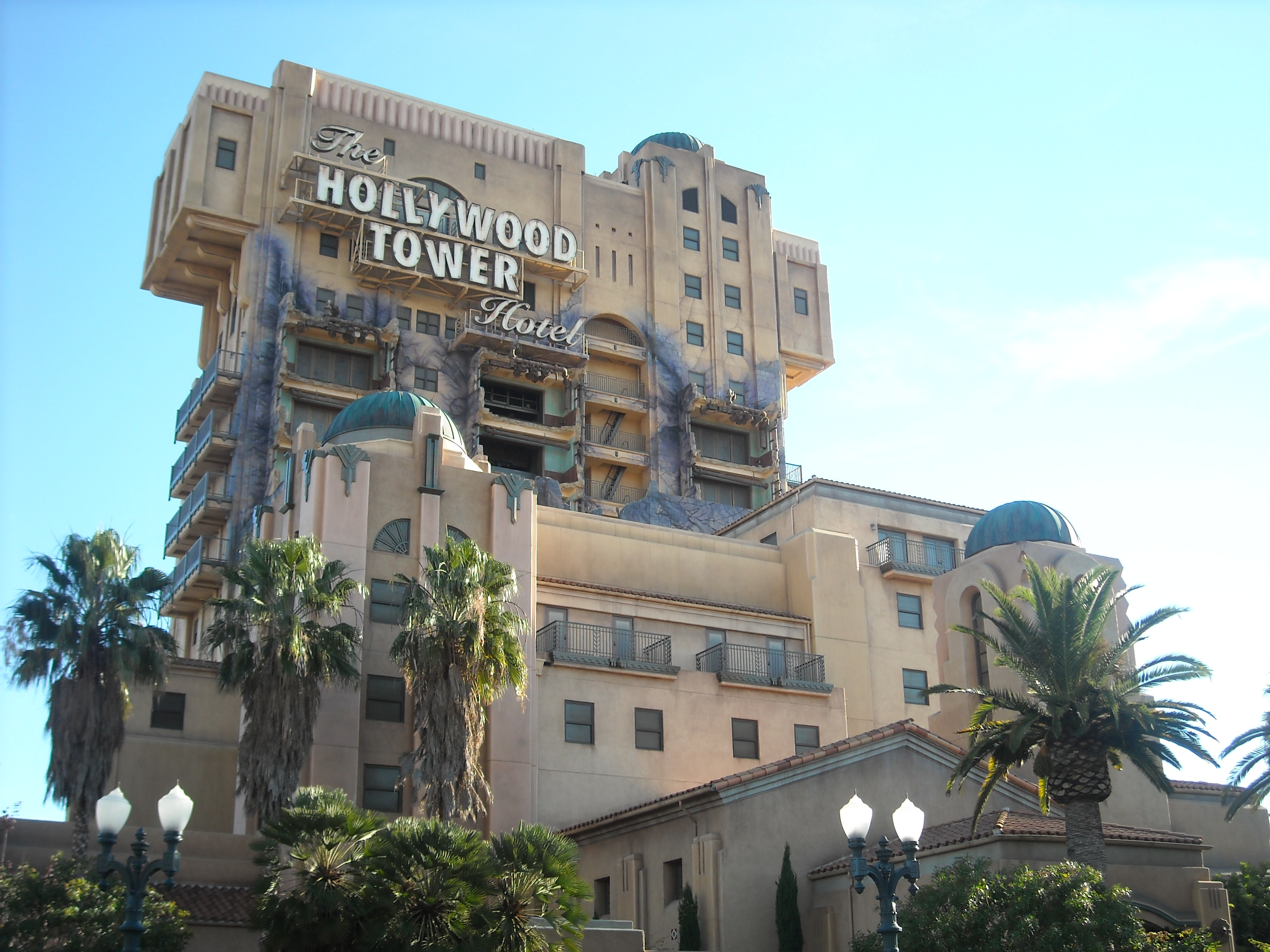 Tower of Terror exterior at Disney's California Adventure