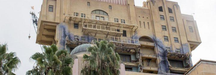 Disney Removes Tower of Terror Sign at Disneyland