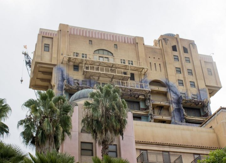 Disney Removes Tower of Terror Sign at Disneyland