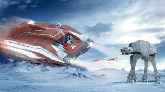 Star Tours at Disneyland Paris concept art