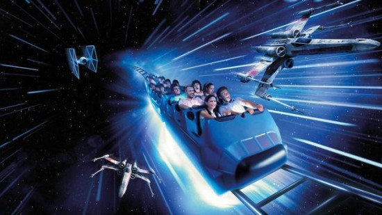 Star Wars Space Mountain Disneyland Paris concept art