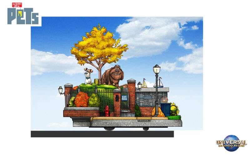 The first float is going to be themed on central park where max and