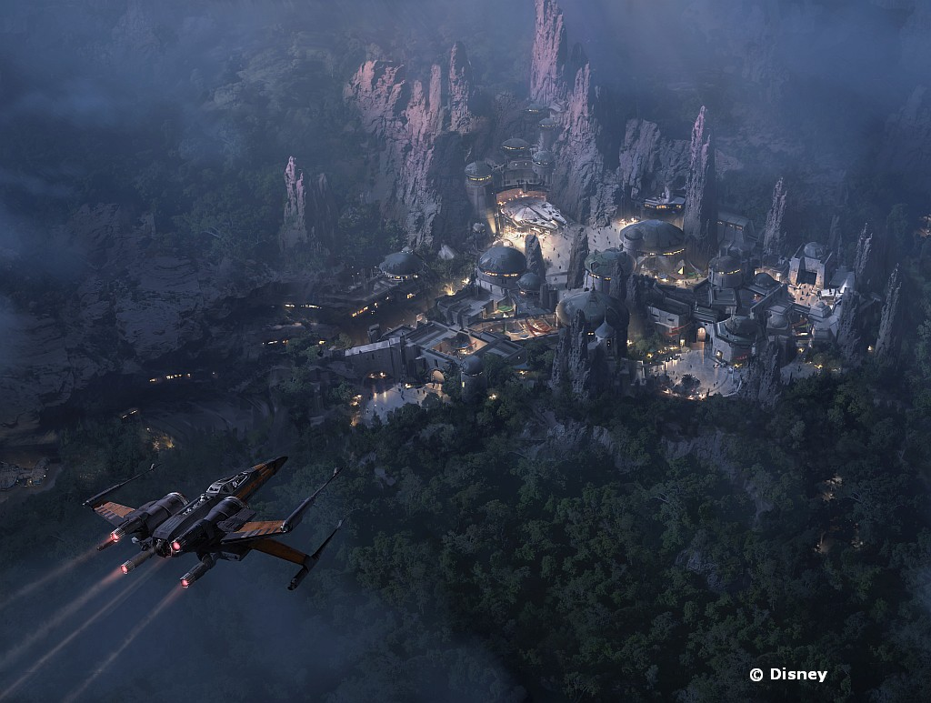 Star Wars Land nighttime concept art