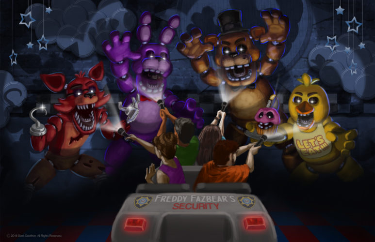 Five Nights At Freddys theme park ride concept art